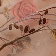 Rem vai voan trang tri hoa tiet hoa hong xinh xan