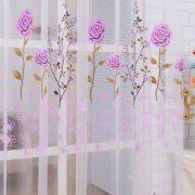 Rem voan trang tri hoa hong xinh xan