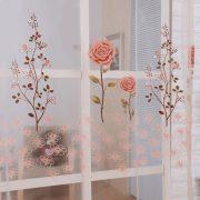 Rem voan trang tri hoa tiet hoa hong xinh xan