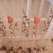 Rem voan trang tri in hoa hong