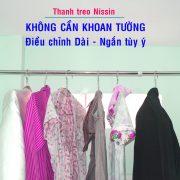 Thanh treo thong minh Nissin khong can bat vit khong can khoan tuong