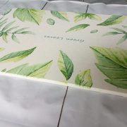 tham cung sieu tham nhat ban loai co hoa tiet la xanh green leaves